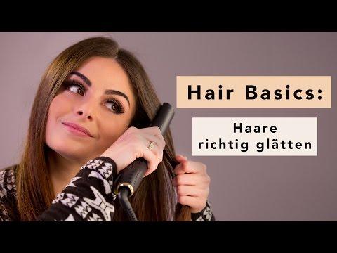 Haare glätten mit Glätteisen: Hair Tutorial