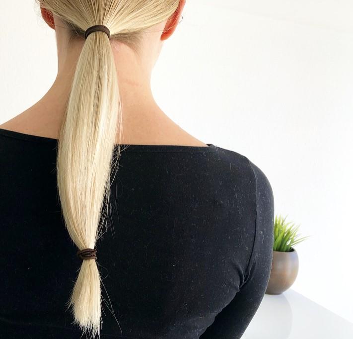 Haare selber schneiden gerade Linie